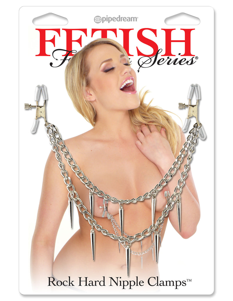 PipeDream Fetish Fantasy Series Rock Hard Nipple Clamps Silver- VAT