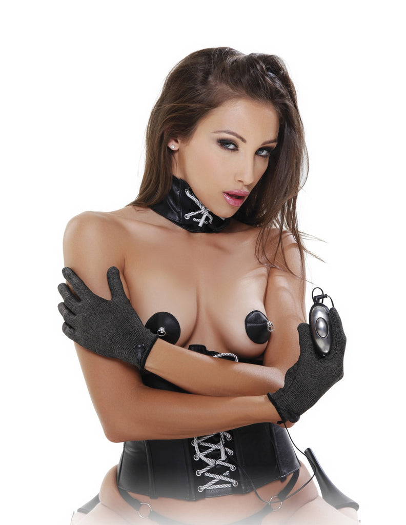 PipeDream Fetish Fantasy Shock Therapy Luv Gloves- VAT1