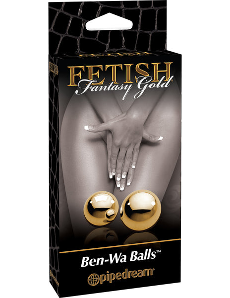 PipeDream Fetish Fantasy Gold Ben-Wa Balls Gold- VAT