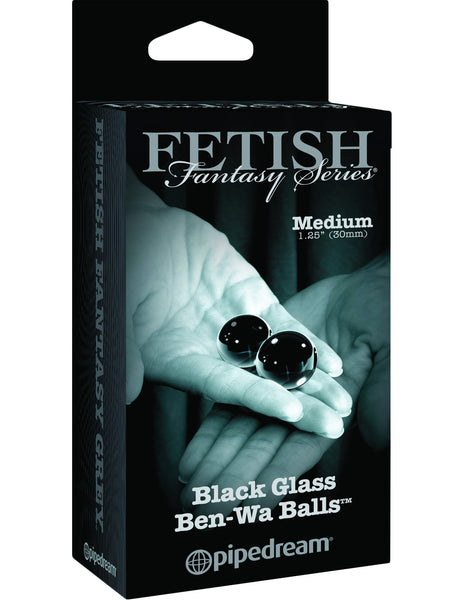 PipeDream Fetish Fantasy Series Limited Edition Medium Black Glass Ben Wa Balls- VAT2