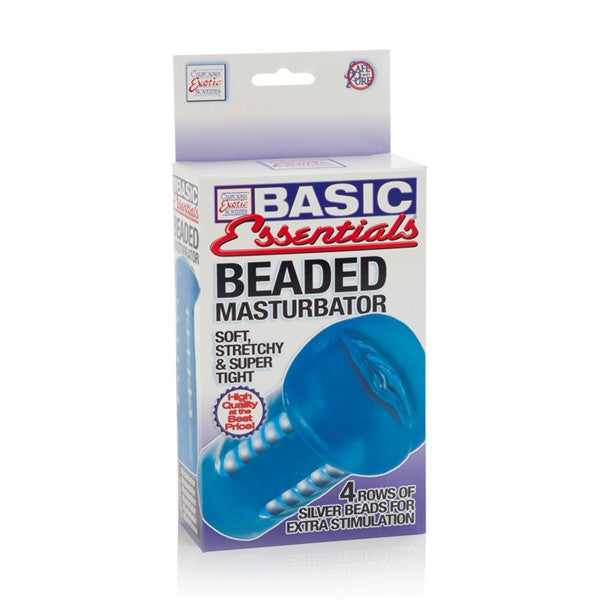 California Exotic Novelties Basic Essentials Beaded Masturbator- VAT2
