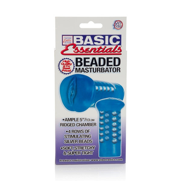 California Exotic Novelties Basic Essentials Beaded Masturbator- VAT3