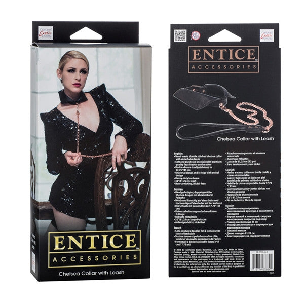 California Exotic Novelties Entice - Chelsea Collar with Leash- VAT2
