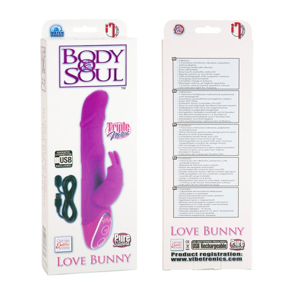 California Exotic Novelties Body & Soul Rechargeable Love Bunny- VAT2