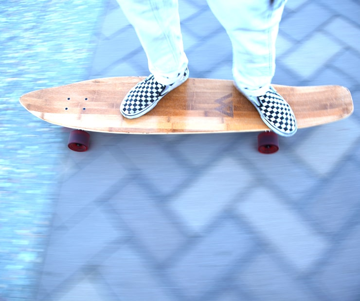 Kicktail Cruiser Bamboo and Maple Deck
