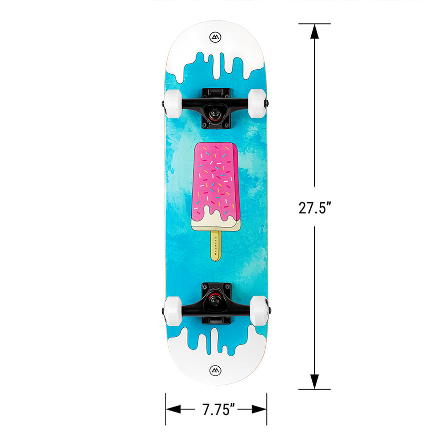 Dimenions of Kids Skateboard Candy Graphics