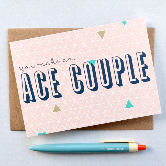 Geometry Ace Couple card