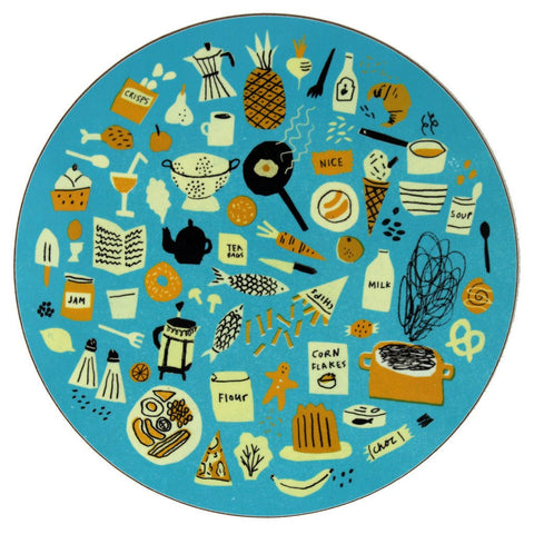 Food placemat/trivet (blue)