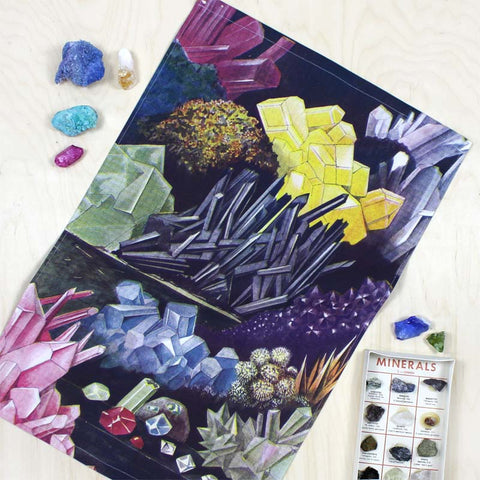 Crystals tea towel