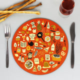Food placemats set (x4)
