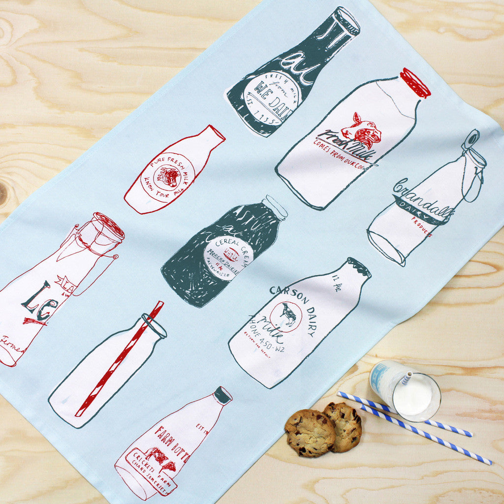 Fresh Milk tea towel