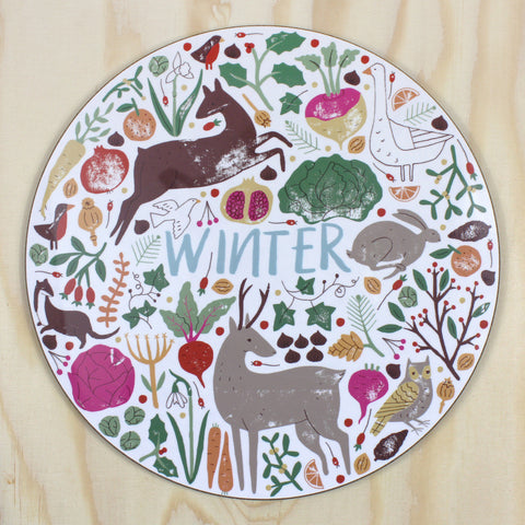 Winter placemat/trivet