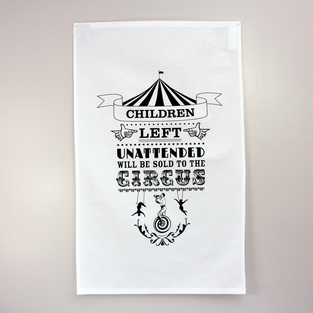 The Bearded Lady tea towel