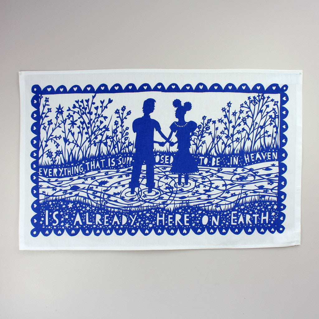 Heaven tea towel