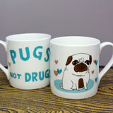 Pugs Not Drugs mug