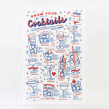 Know Your Cocktails tea towel