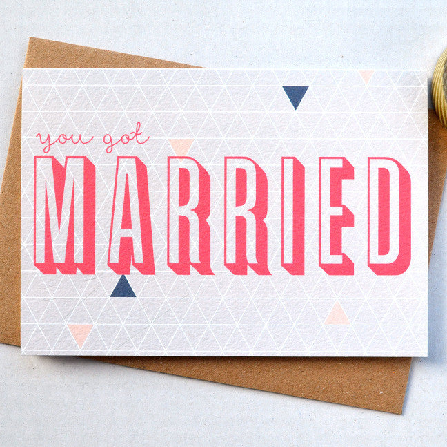 Geometry You Got Married card