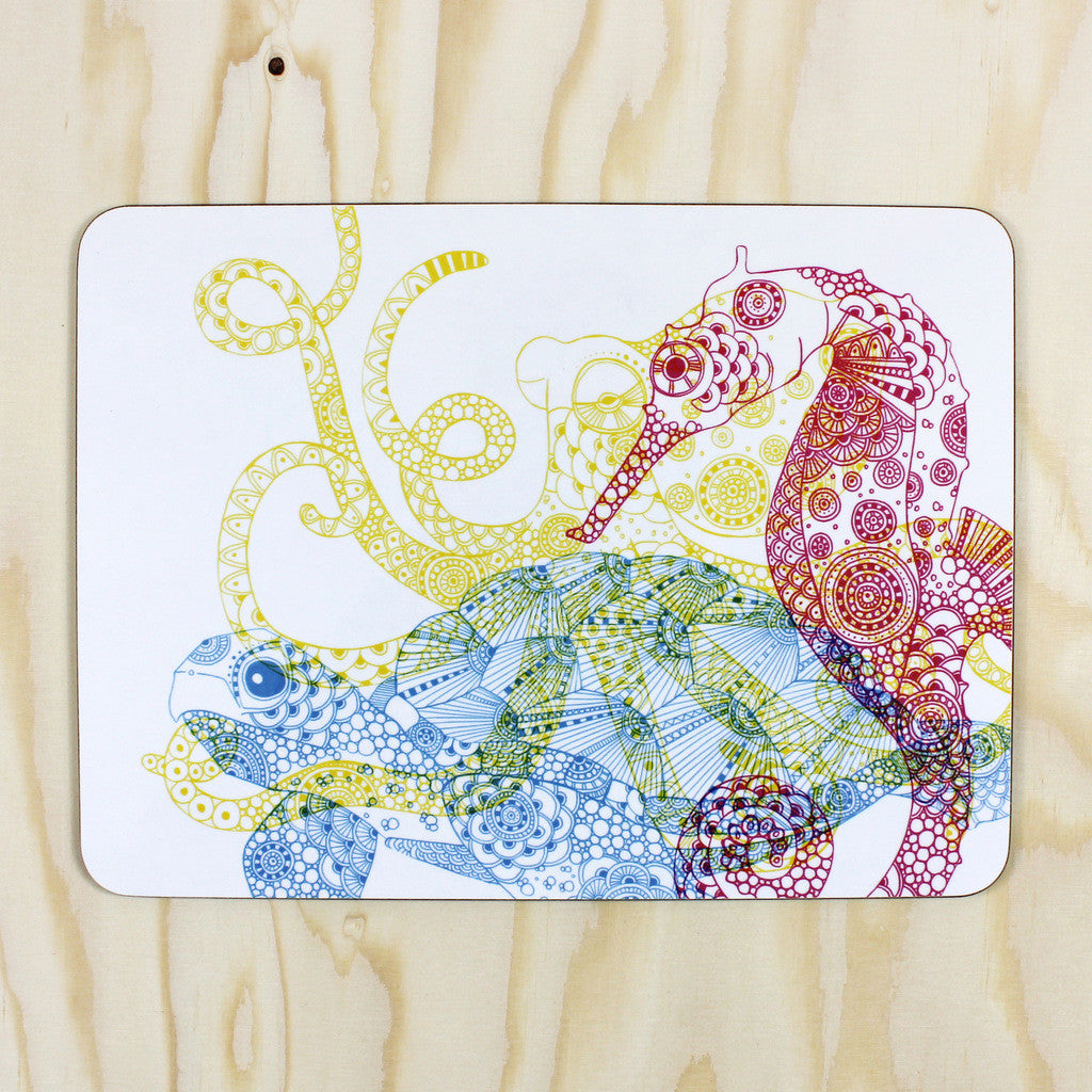 CMYK Sea Creatures placemat