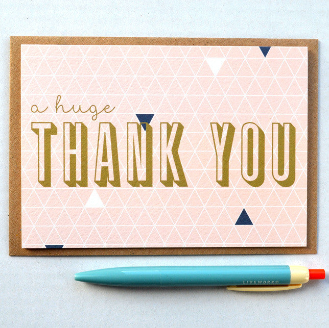 Geometry Huge Thank You card