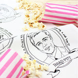 Hollywood Dishes tea towel