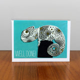 Chameleon Well Done card