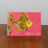 Goldfish Congratulations card