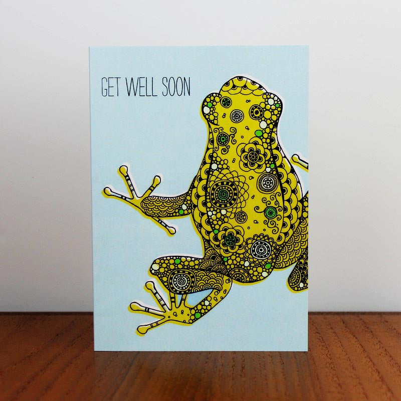 Get Well Frog card