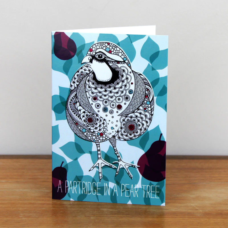 Christmas Partridge card