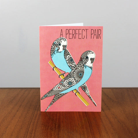 Budgies Perfect Pair card