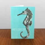 Seahorse Lovely Day card