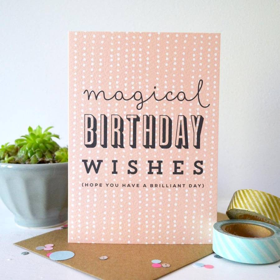 Sprinkle Magical Birthday card