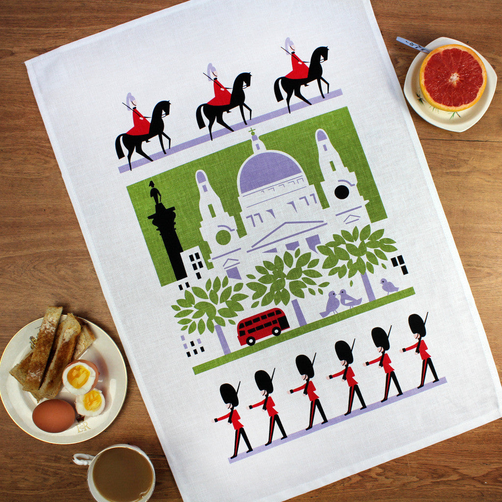 Scenic London tea towel