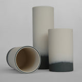 Anna Thomson Grey and White Blended Base Porcelain Vases on Oates & Co.