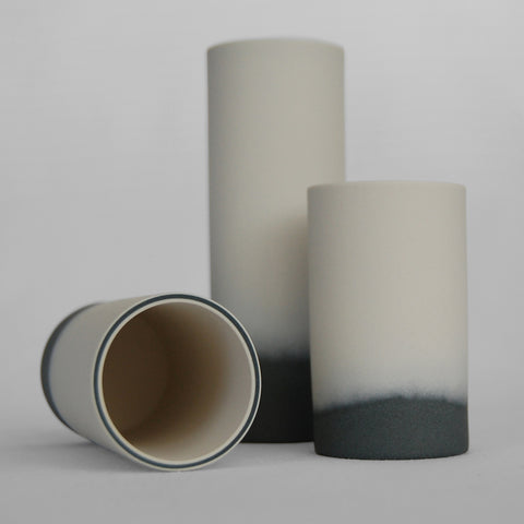 Blended Base Porcelain Vase by Anna Thomson