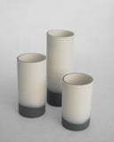 Anna Thomson Handmade Grey and White Porcelain Vases on Oates & Co.