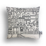 Black and White Skyline Cushion by Bert & Buoy on Oates & Co.