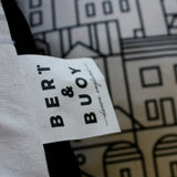 Dartmouth Townscape Cotton Cushion by Bert & Buoy on Oates & Co.