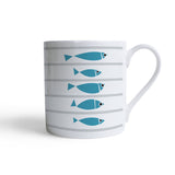 Fish Design Bone China Mug by Bert & Buoy on Oates & Co.