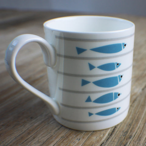 Line-Up Bone China Mug by Bert & Buoy