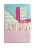Pink and blue Barncoose Candy Twig blanket or throw on Oates & Co.