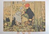 Vintage children's woodland walk print for bedroom or nursery on Oates & Co.