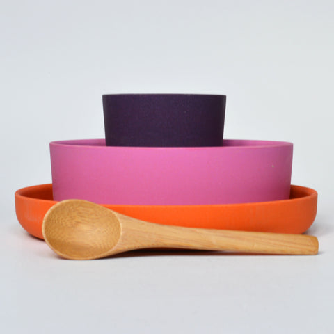 Bamboo Kid's Tableware Set by Ekobo (2 colours available)