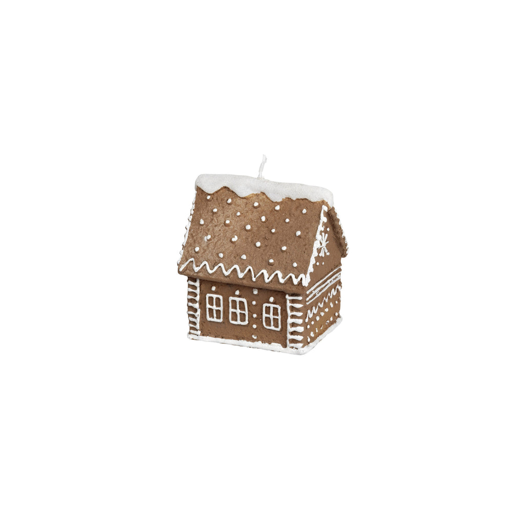 Gingerbread House Christmas Decoration Candle by Broste on Oates & Co.