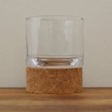 Small cork and glass hurricane tealight holder by Broste of Copenhagen on Oates & Co.