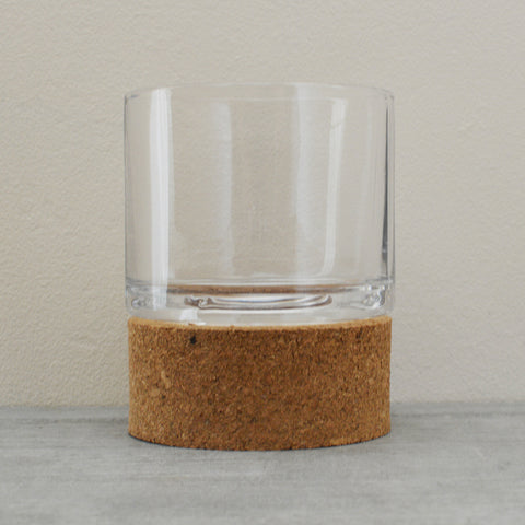 Large Cork Hurricane Tealight Holder by Broste