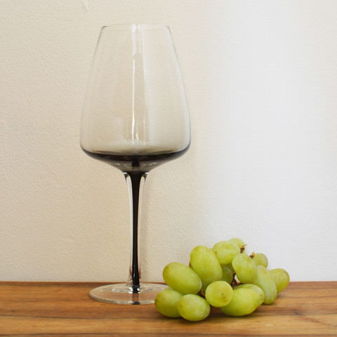 Grey Smoke Red Wine Glass by Broste