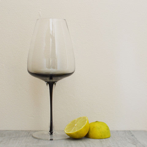Grey Smoke White Wine Glass by Broste