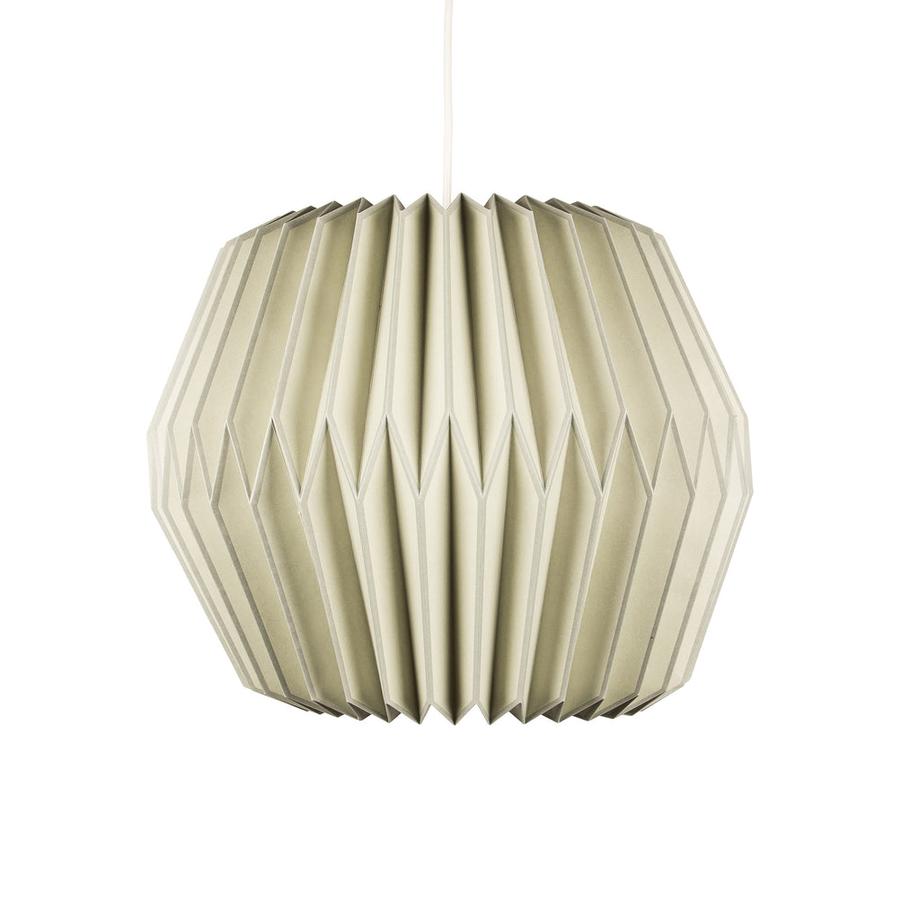 Broste off white paper pendant ceiling lampshade on Oates & Co.