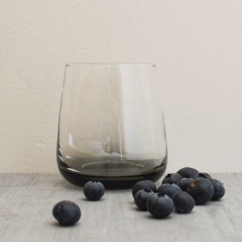 Grey Smoke Glass Tumbler by Broste