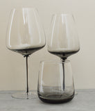 Set of Grey Smoke White Wine, Red Wine and Tumbler Glasses by Broste on Oates & Co.